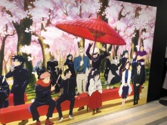 呪術廻戦展_前期_名古屋パルコ_お花見パネル1