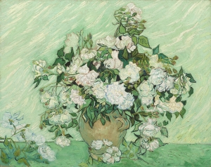 静物:バラのある花瓶