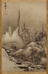 『秋冬山水図』(冬景図)