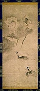 蓮池水禽図(れんちすいきんず)