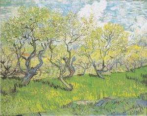 花咲く果樹園