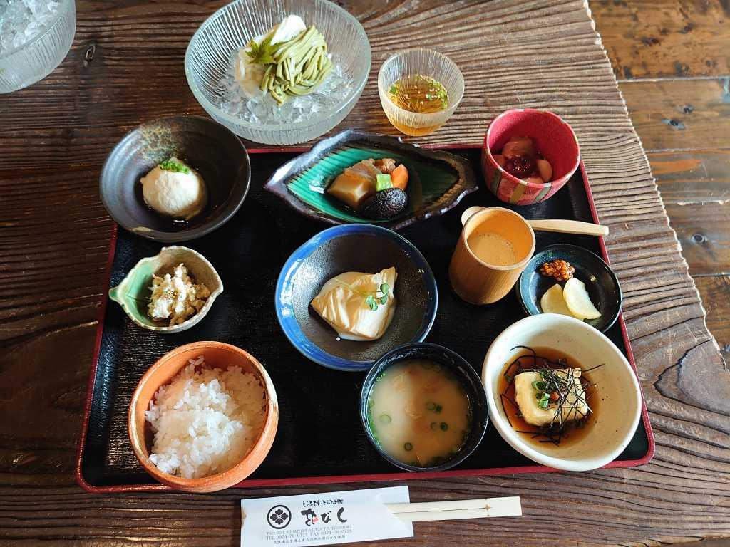 「豆腐工房 豆腐料理 花びし(大分県竹田市)」自然に囲まれた古民家でいただくヘルシーお豆腐料理